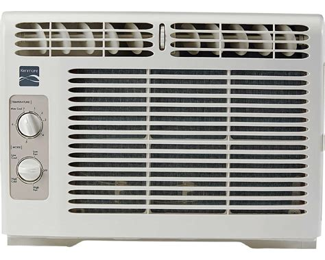 Air Conditioners For Small Windows Designs Kenmore 86050 5 000 Btu Window Mounted Mini Compact Air Conditioner White Sears Outlet