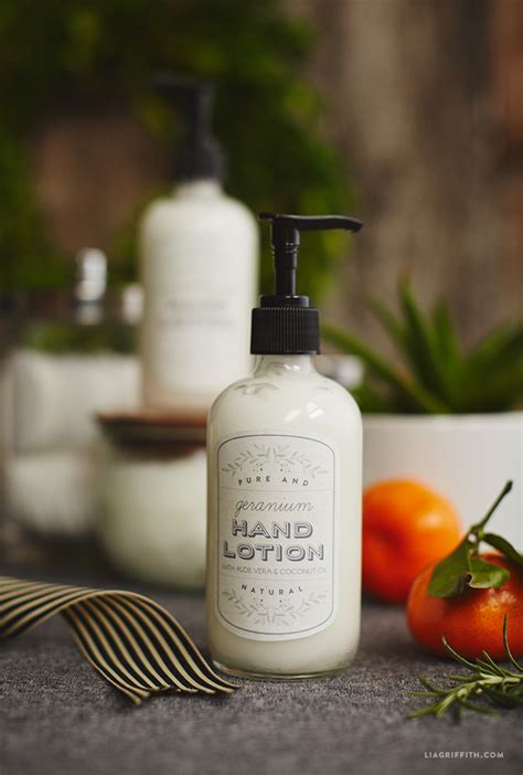 Homegrown And Handmade - lotion with printable labels lia griffith