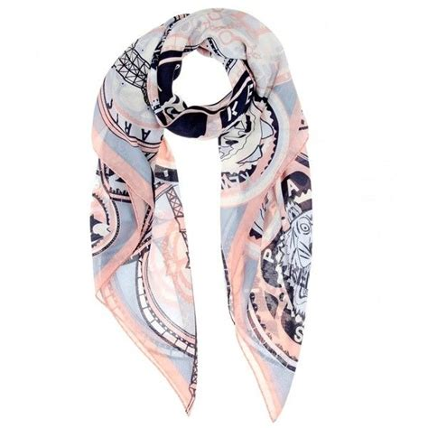 kenzo printed scarf 105 liked on polyvore featuring