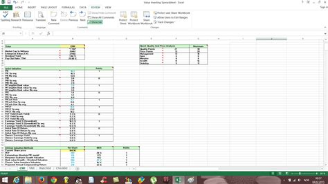 Stocks Spreadsheet by Free Value Investing Excel Stock Spreadsheet Free Value