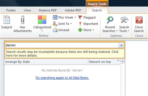 Outlook Not Searching Emails Search Results Incomplete Outlook Myideasbedroom