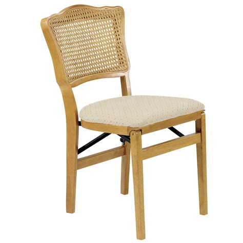 foldable chairs dover cane back wooden folding chair pair