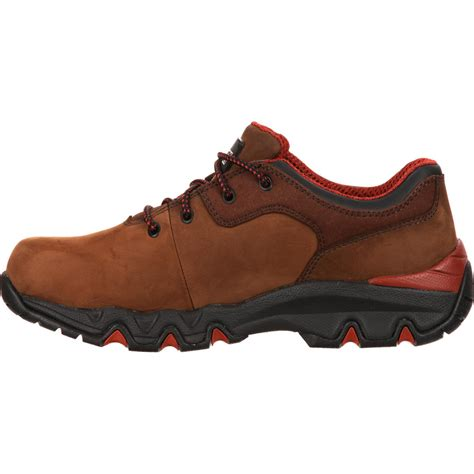 rocky oxford shoes rocky bigfoot waterproof brown oxford work shoe rkyk066