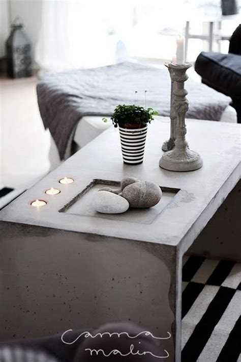 Diy Concrete Coffee Table Amazing Diy Concrete Coffee And Side Tables