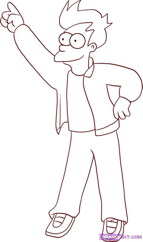 futurama coloring pages coloring home