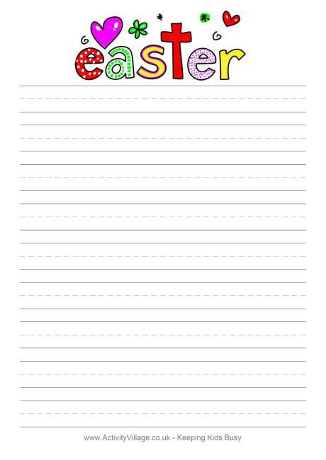 printable handwriting paper uk 104 best images about easter stationery on pinterest