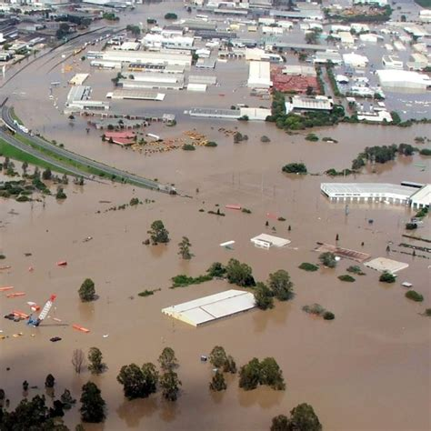Covers Brisbane by Floodwaters Cover The Ipswich Motorway And The Brisbane