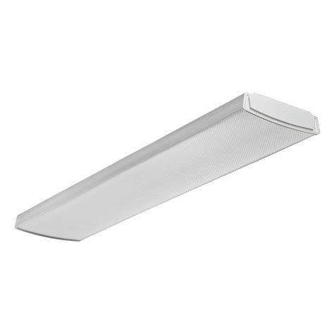 Lithonia Fluorescent Light Fixtures Lithonia Lighting 1 Light Milk White Fluorescent Low Profile Fixture Fmxlr 72 M2 The