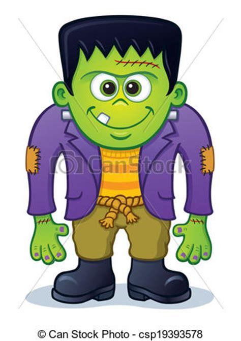 cute frankenstein monster. cartoon illustration of a cute
