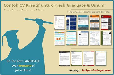 desain cv fresh graduate desain cv kreatif contoh cv fresh graduate