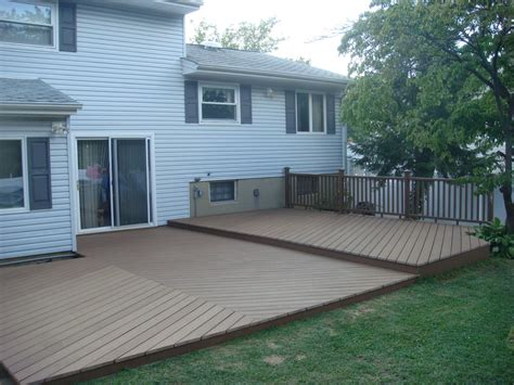 Backyard Deck Ideas Ground Level Outdoor Decks On Ground Level Deck Ground