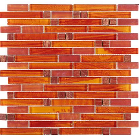 tst glass mosaic tile orange