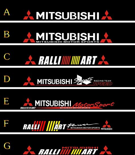 mitsubishi sticker design ug front stop stickers lancer mitsubishi v3 before and