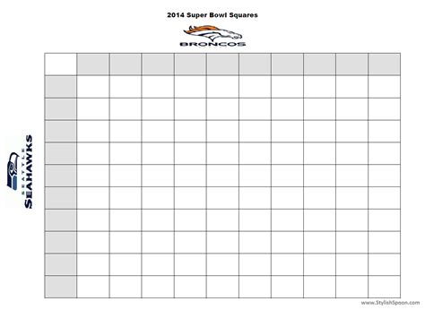 printable super bowl squares new calendar template site