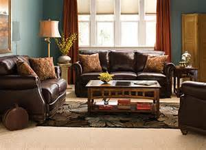 Chocolate And Green Curtains Alexander Traditional Leather Living Room Collection