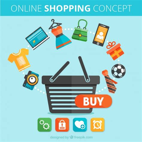 design retail online concept of online shopping vector free download