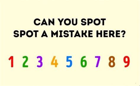 Can You Spot The Error by Find The Mistake Quiz Raise Your Brain