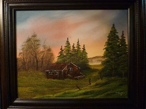 bob ross painting instructor course don belik bob ross 174 painting classes cabin at sunset