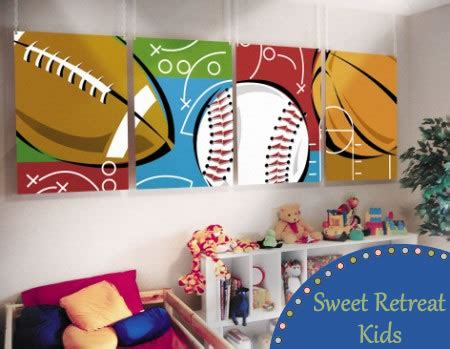 sports theme murals for your sports fan sweet