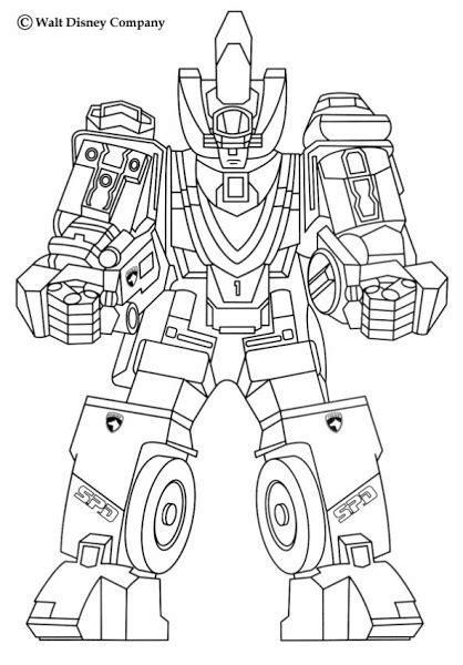Power Rangers Robot Coloring Pages | printable coloring pages of robots colorings net