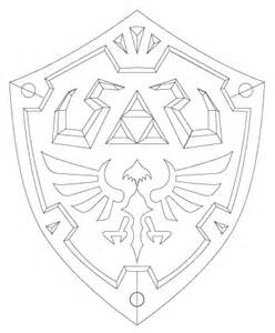 Hylian Shield Outline by Shield Drawing Www Pixshark Images Galleries With A Bite