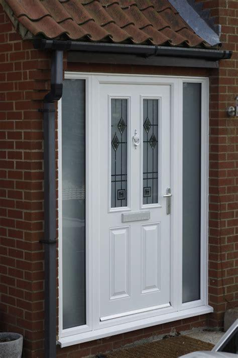 white upvc front door front back doors external doors anglian home