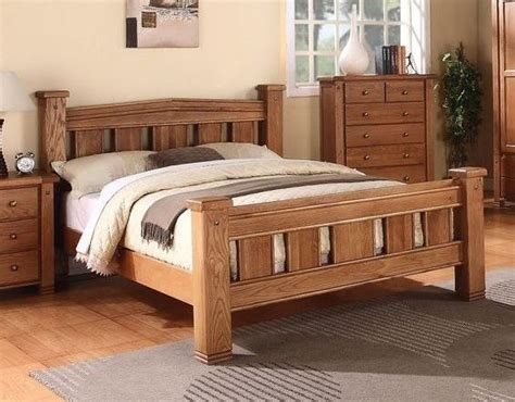 Oak Bed Frame King Size Michidean 5 King Size Solid Oak Bed Frame Ebay