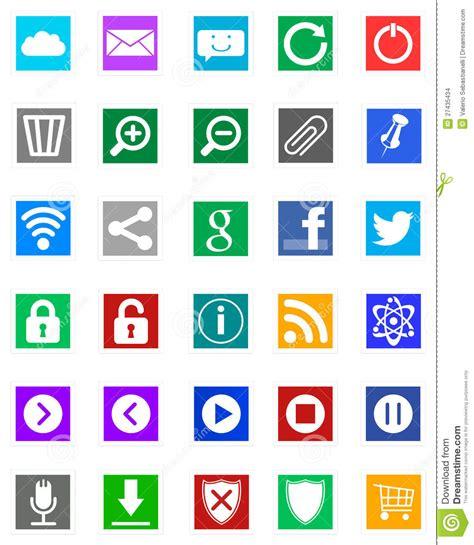 imagenes de iconos de windows 10 windows 8 iconos estilo del metro imagen de archivo