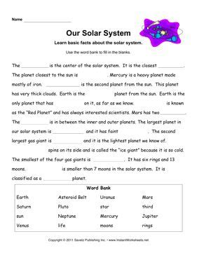 Beyond The Worksheet Answers by 25 Best Ideas About Solar System Worksheets On