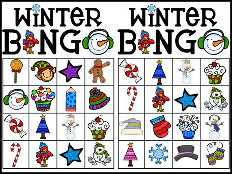 Winter Bingo Card Template by Kearson S Classroom Bingo