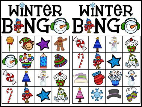 winter bingo card template kearson s classroom bingo