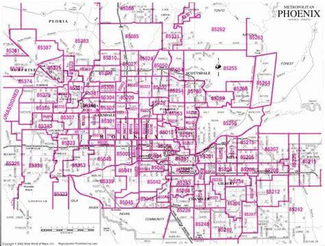 zip code map for phoenix arizona zip code map holidaymapq com