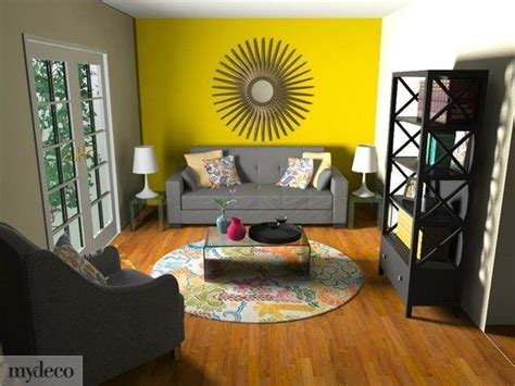 yellow accent wall cachet style makeover your home online in 3d yellow