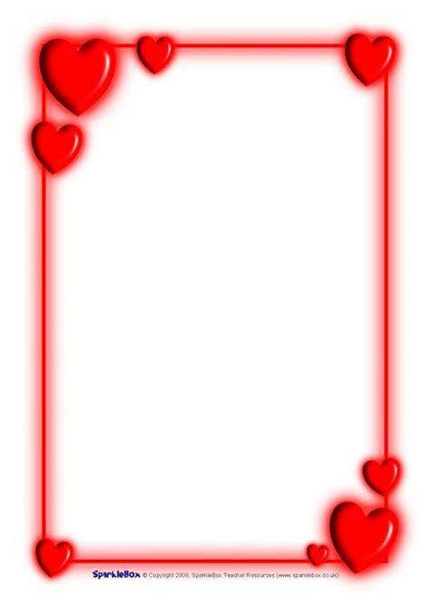 Valentine?s Day A4 Page Borders (SB1186)   SparkleBox