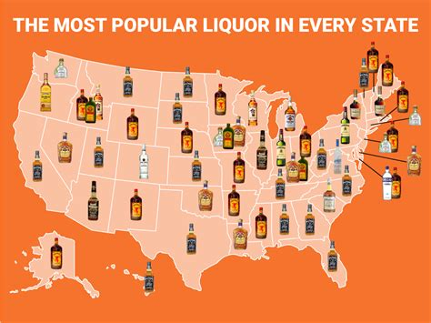 the most popular liquor in every state business insider