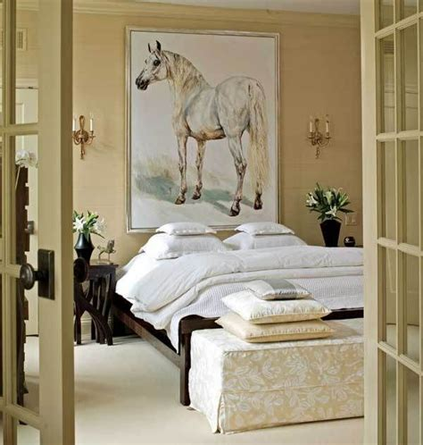 Equestrian Bedroom Decor by Bedroom With Doors Painting Neutral