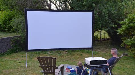 best backyard projector projector screens carlu0027s place diy standing projector