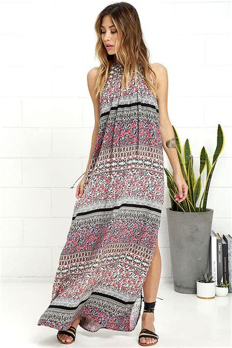 boho dress lavender print dress maxi dress 59 00