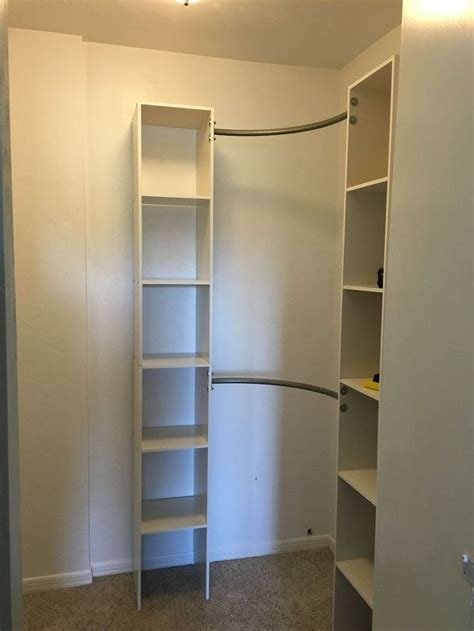 Closet Shelving System by Corner Closet Shelves Design The Homy Design