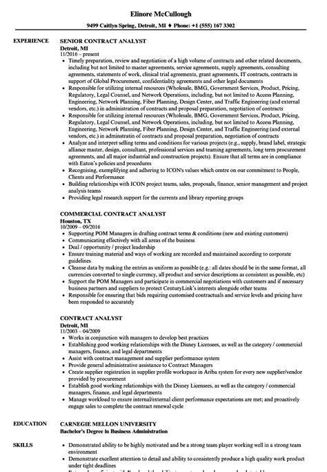 Contract Analyst by Contract Analyst Resume Sles Velvet