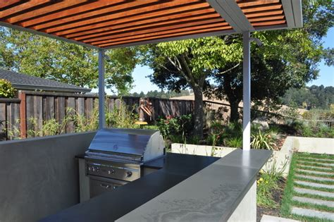Steel Patio Steel And Wood Arbor Modern Patio San Francisco By