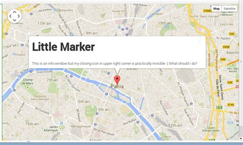 design google maps infowindow javascript infowindow closing icon not showing in google