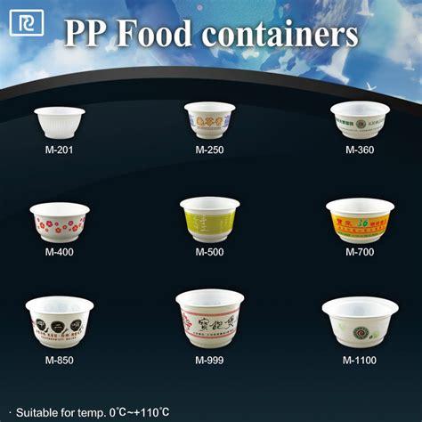 Mangkuk 500ml by 16 Oz 500 Ml Suhu Tinggi Pakai Wadah Makanan Pp Plastik