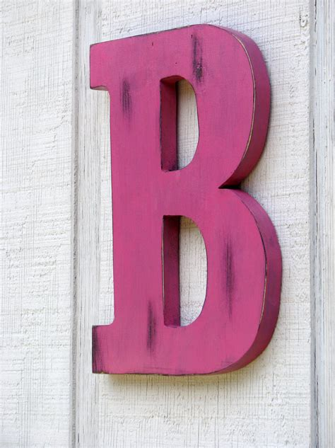 Decorative Letters For Home | large wooden letters home decor rustic letter by