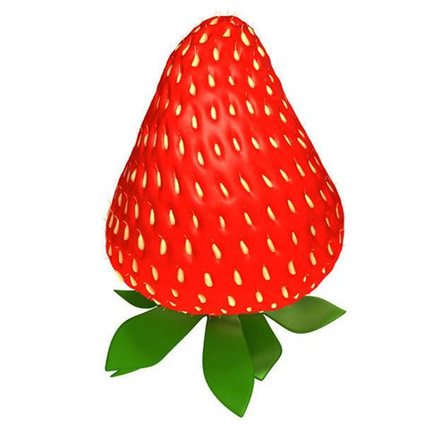 3d 3 Strawberry strawberry 3d model max obj ma mb cgtrader