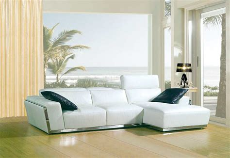 white sectional leather sofa modern modern white bonded leather sofa vg010c leather sectionals