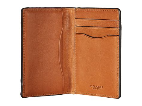 Coach Patchwork Wallet - coach sport calf patchwork card wallet saddle zappos