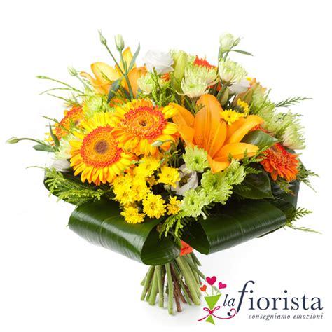 fiori bouquet vendita bouquet solare di fiori arancio consegna fiori a