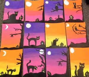 Halloween Arts And Crafts For Kids Pinterest - art teacher in la k 6th grade art lessons acrylic paint elementary art middle art