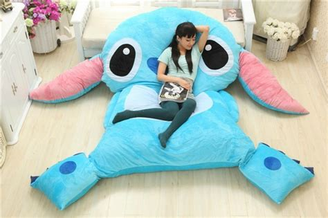 stitch bedding american anime cartoon lilo and stitch plush stuffed laege seat cushion bed mattress